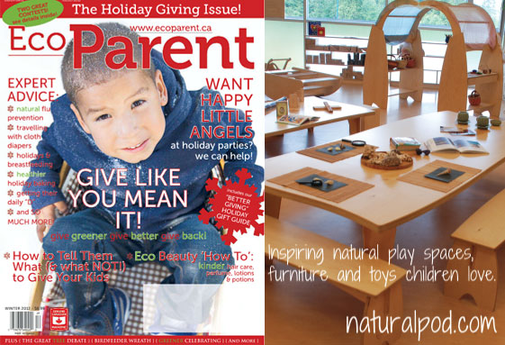 Natural Pod in this Month's Eco-parent Magazine