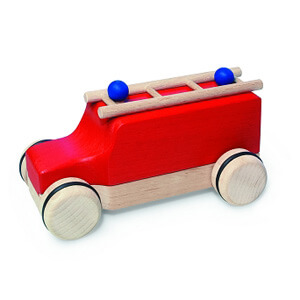 Natural Pod - Fagus Puzzle Mobile - Fire Engine Red
