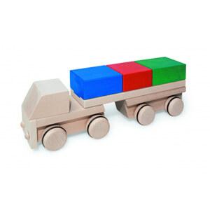 Natural Pod - Fagus Puzzle Mobile - Lorry - Multi-coloured