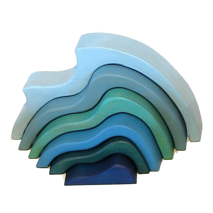 Natural Pod - Bundle - Four Elements - Wood Stacking Waves