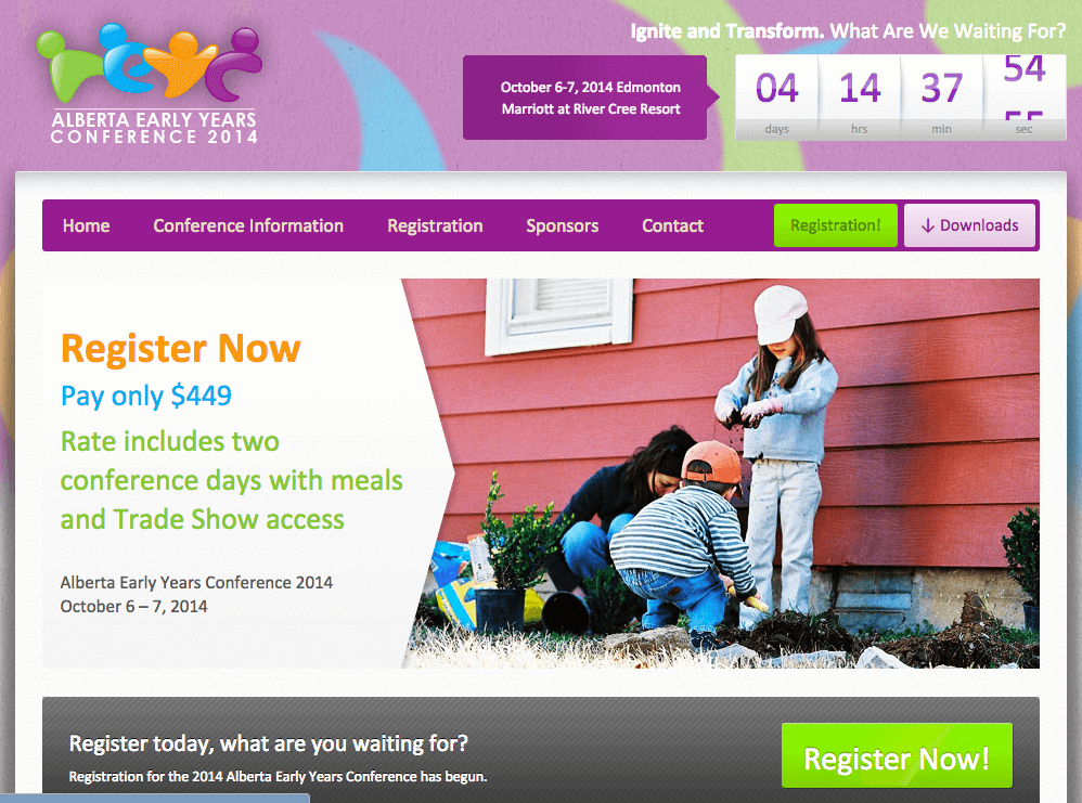 Join Us at the Alberta Early Years Conference