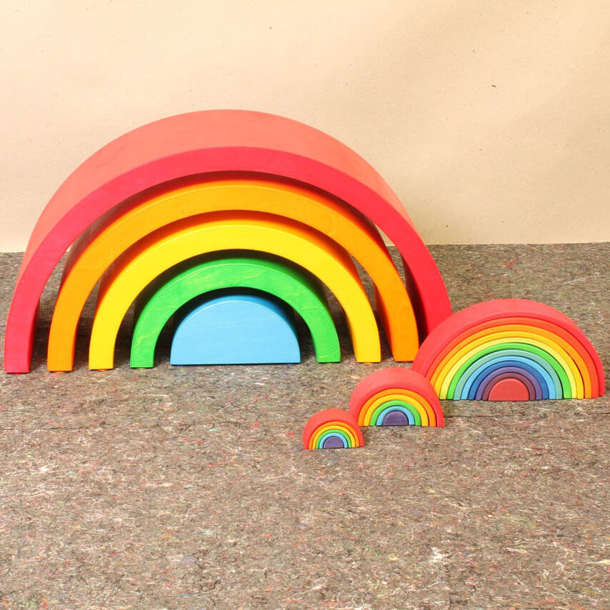 Natural Pod - Super Large Stacking Rainbow - 05