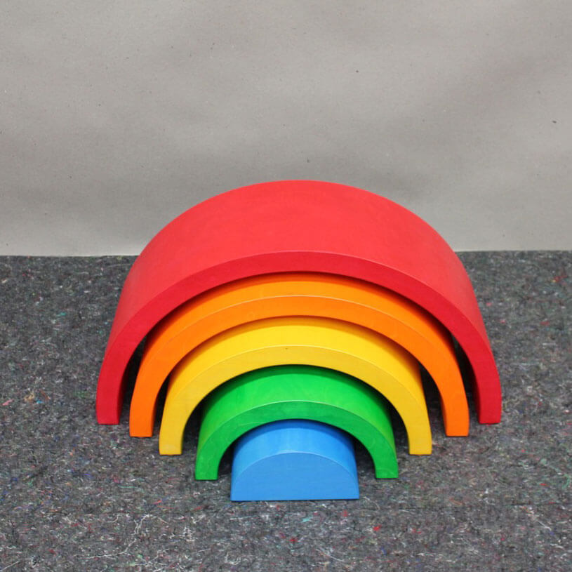 Natural Pod - Super Large Stacking Rainbow - 06