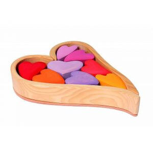Natural Pod - Rainbow Hearts - Red Colour - 02