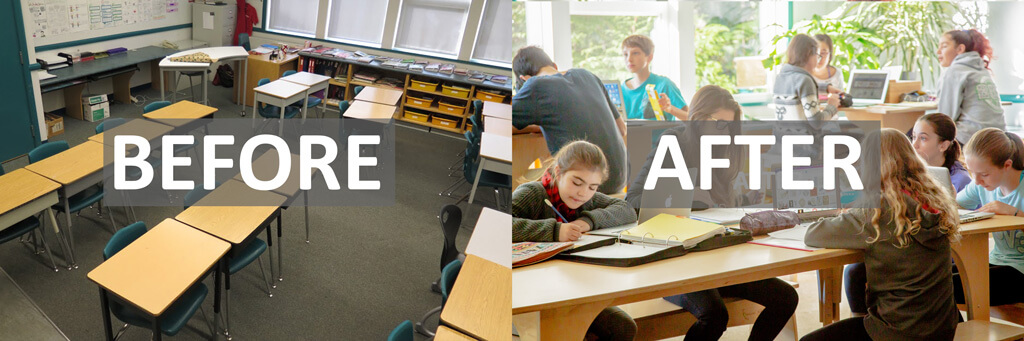 Before and After: How To Add Creativity, Flexibility And Collaboration To Your Classroom ~ A Real Transformation