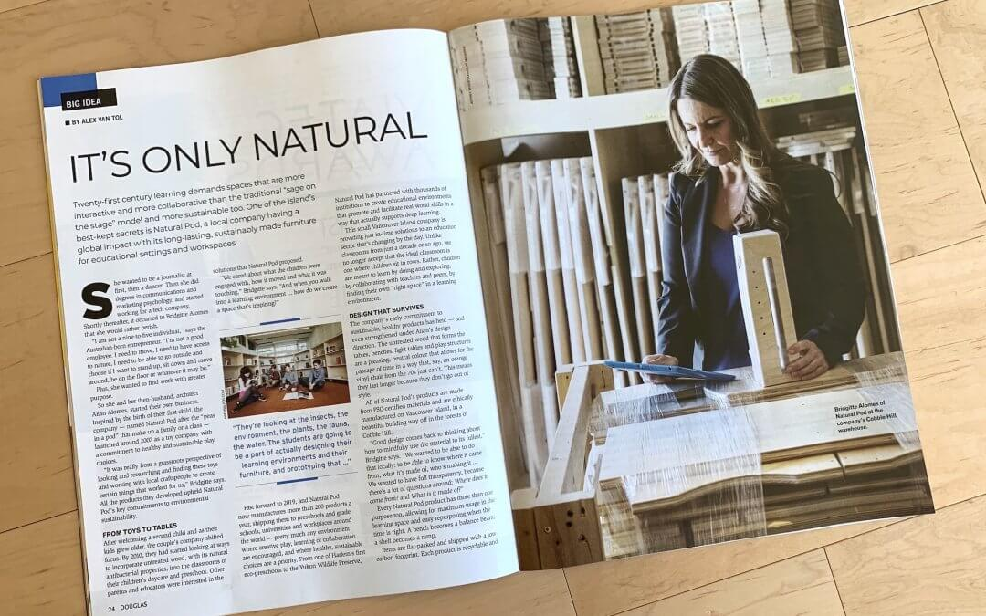 It's Only Natural – Douglas Magazine Features Interview with Natural Pod CEO, Bridgitte Alomes
