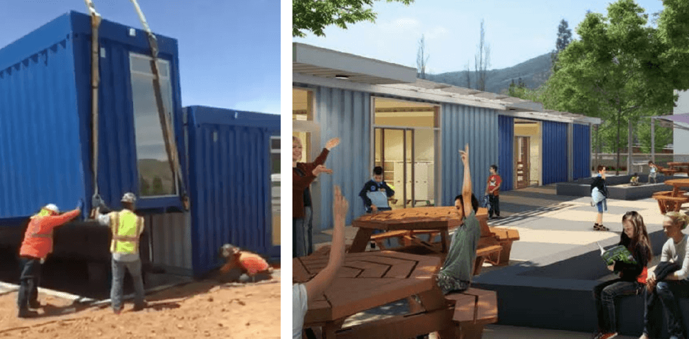 Learn How This School Is Using Repurposed Shipping Containers and Sustainable Furniture To Meet Their Learning Goals